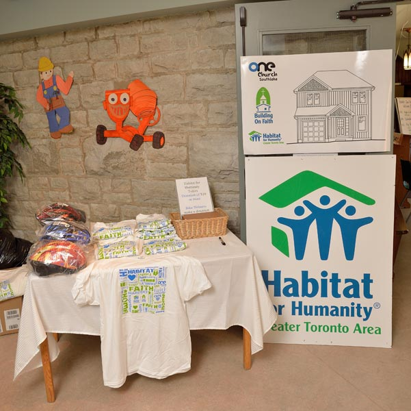 One of the Habitat displays from the Open House event at St. Paul's.