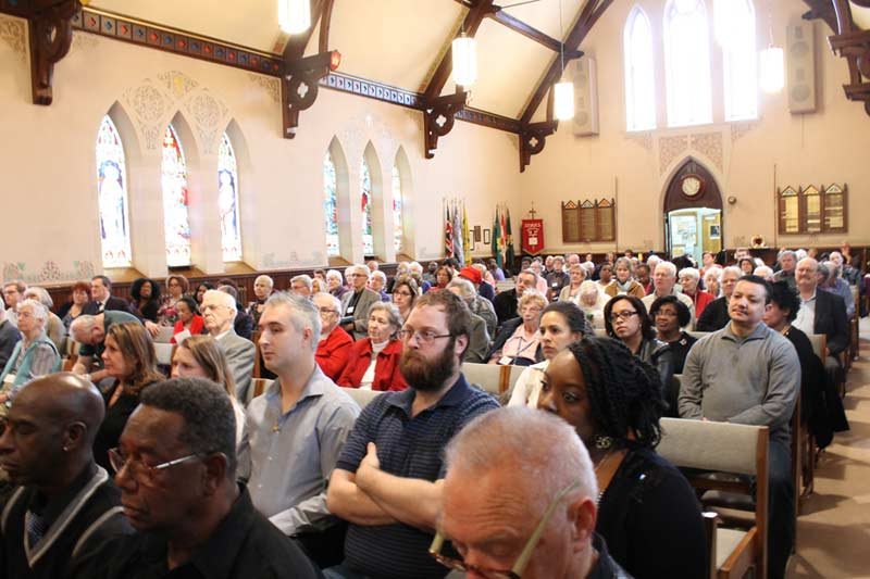 Packed church for black history month service.  Bishop Fenty always draws a large crowd.
