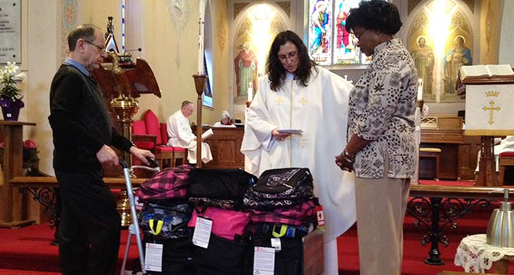 Backpack Blessing at St. Paul's