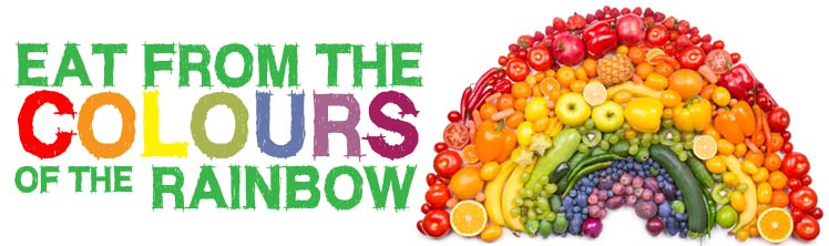 Eat from the colours of the rainbow